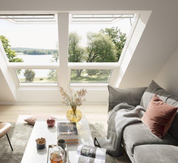 Velux Dachfenster Wohnzimmer